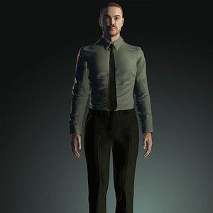 3D real man