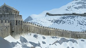 Great Wall of China 02 3D model