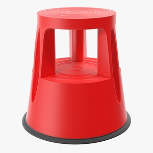 stool stair red tool 3D model