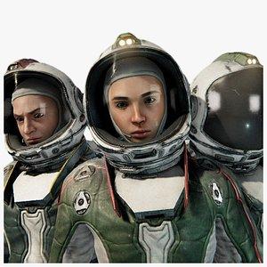 3D cosmonaut