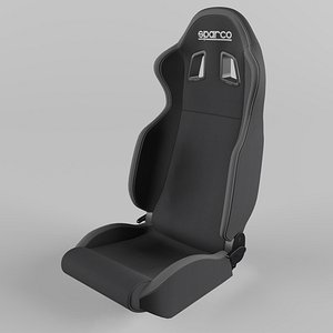 3D Sparco R100 Sports Racing Seat Fabric Black-Grey
