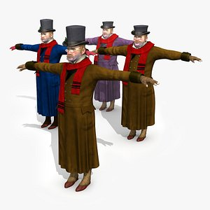 victorian dickens man 1 3D model