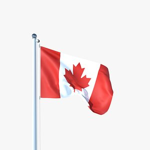 Animated Flag of Canada 3D model