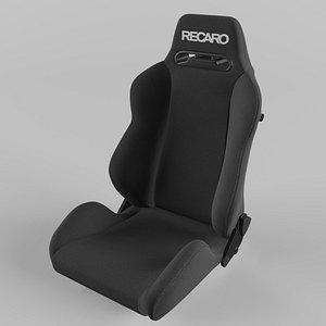 3D RECARO Speed Logo White Seat