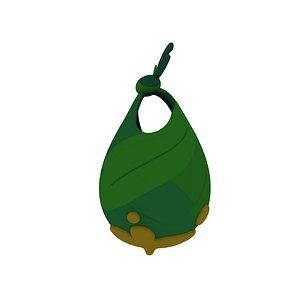 cartoon leaf bag 3D model