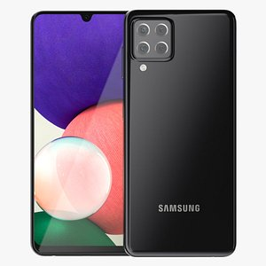 Samsung Galaxy A22 Black 3D model