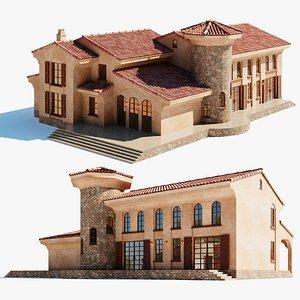 3D villa colonial model