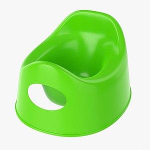 3D Plastic child toilet pot