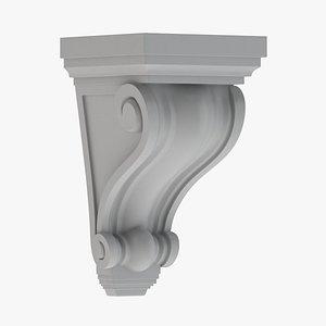 Scroll Corbel 06 - 3D Printable 3D