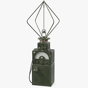 military direction finder antenna 3D