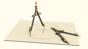 drafting compass 3D model