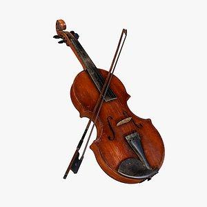 3D old violin