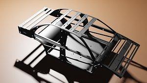 3D chassis frame model