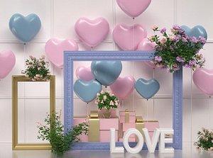 3D Valentine Day balloons