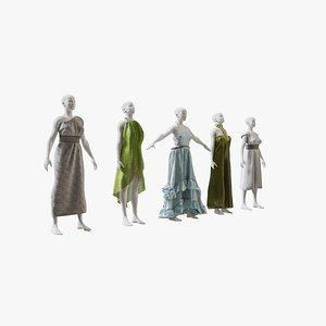 3D Elvs Goddess Dress Pack 2