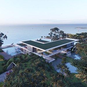 Modern beach house 3D model
