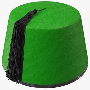 traditional arabic green fez 3D model