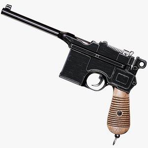 Mauser C96 Pistol 3D model