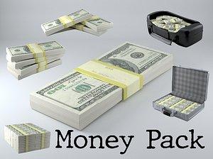 3D money pack pbr model