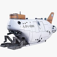 Submarine Shinkai 6500 Underwater Research Lab Animated