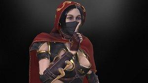 3D Black Assassin model