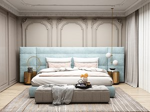 Modern Style Bedroom - 520 3D model