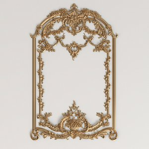 3D frame rococo style model