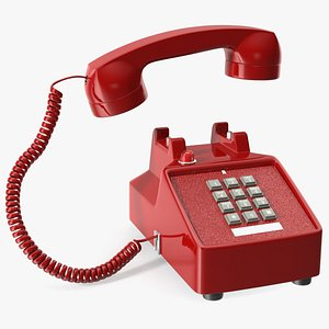 Bittel Vintage Retro Telephone Off Hook 3D