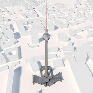 TV Tower Berlin and environment 3D model