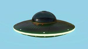 Spaceship UFO B2 - Black - Alien SciFi Vehicle 3D model