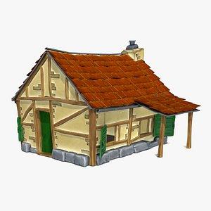 3D Little farm house model
