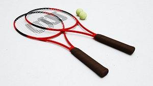 3D model tennis racket