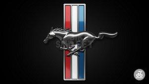 3D Mustang Logo Horse model