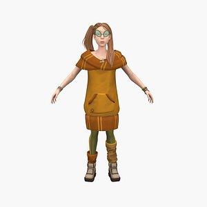 Child Cecily 3D model