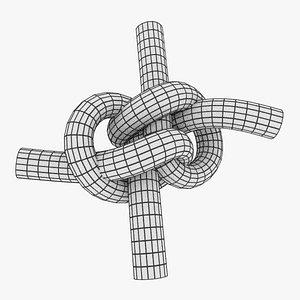 3D knot bend