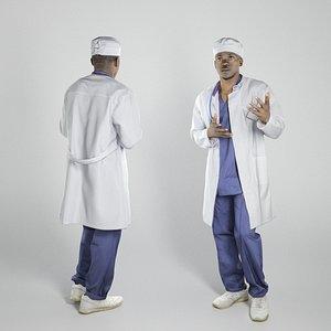 scanned man african doctor model