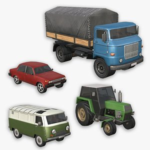 Traffic Cars - Pack  1 3D model