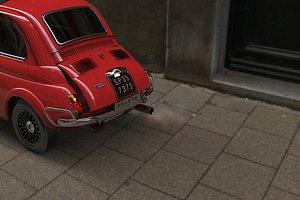 3D fiat 500 1969