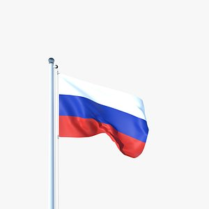 Animated Flag of Russia 3D