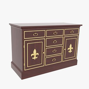 Cabinet Victorian Mahogany 3D model
