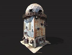 Abandoned Radar Building 3D model