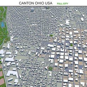 Canton Ohio USA 3D model