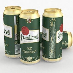 3D Beer Can Pilsner Urquell 500ml 2021 model