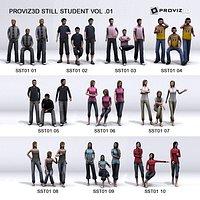 3D People 30 Still 3D Student Vol 01