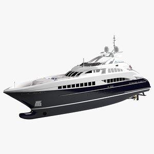 3D model Willie Glory Luxury Yacht Dynamic Simulation