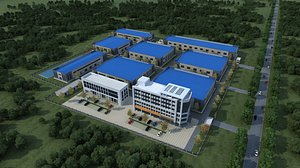 Factory Industrial Zone Chemical Factory Warehouse High-tech Zone Development Zone Factory Zone Fact 3D model