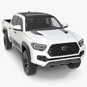 3D model Toyota Tacoma TRD Off Road White Perl 2021