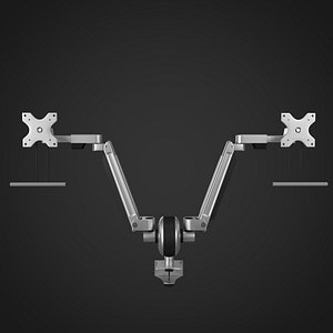 3D monitor arms