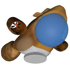 3D submarine sub model
