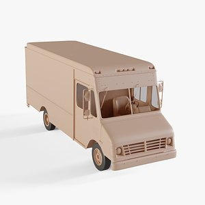 3D chevrolet p30 step van model
